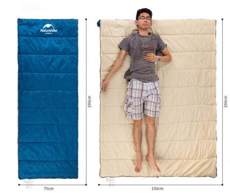 túi ngủ cả đông lẫn hè