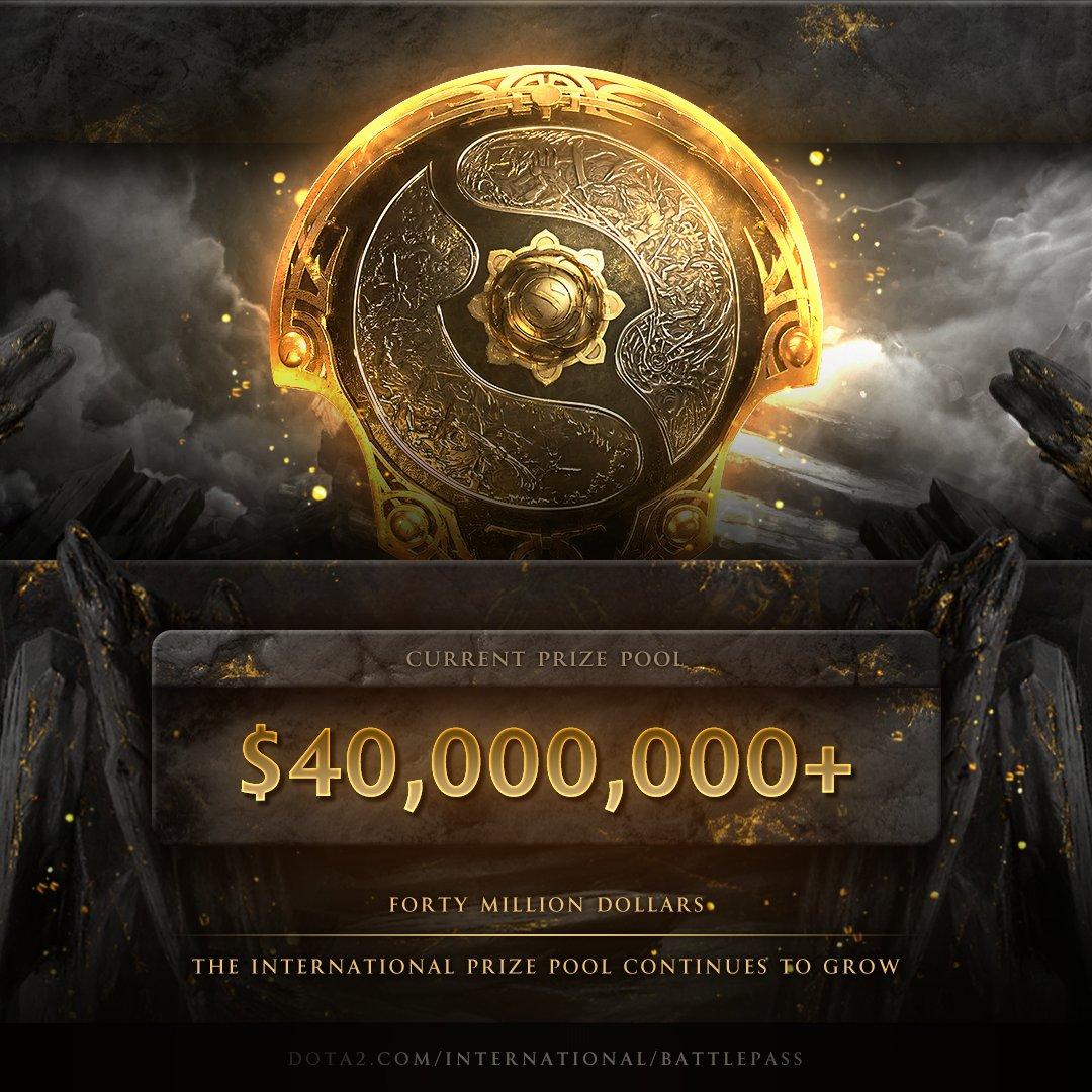 Dota 2 The International Prize pool surpassing 40 million USD.