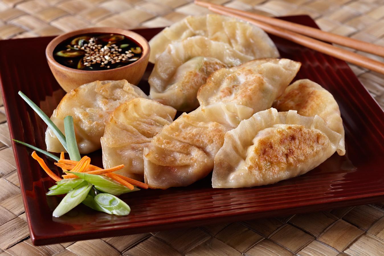 dumpling with gyoza sauce