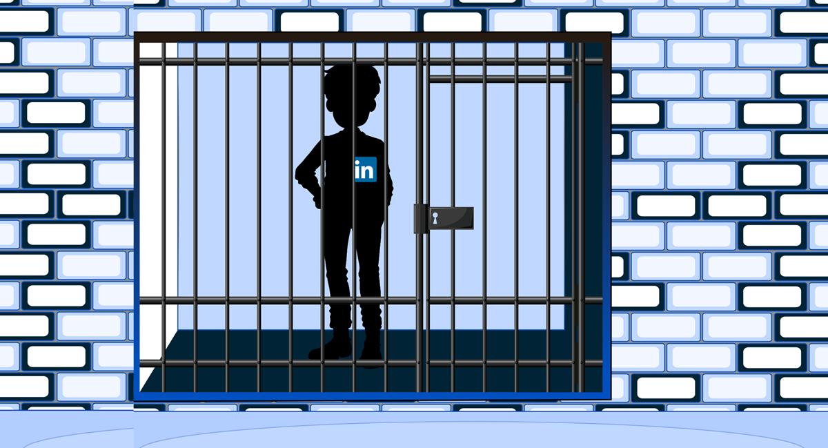 illustration of linkedin account lockdown