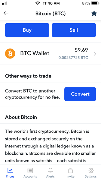 Bitcoin BTC other ways to trade page.
