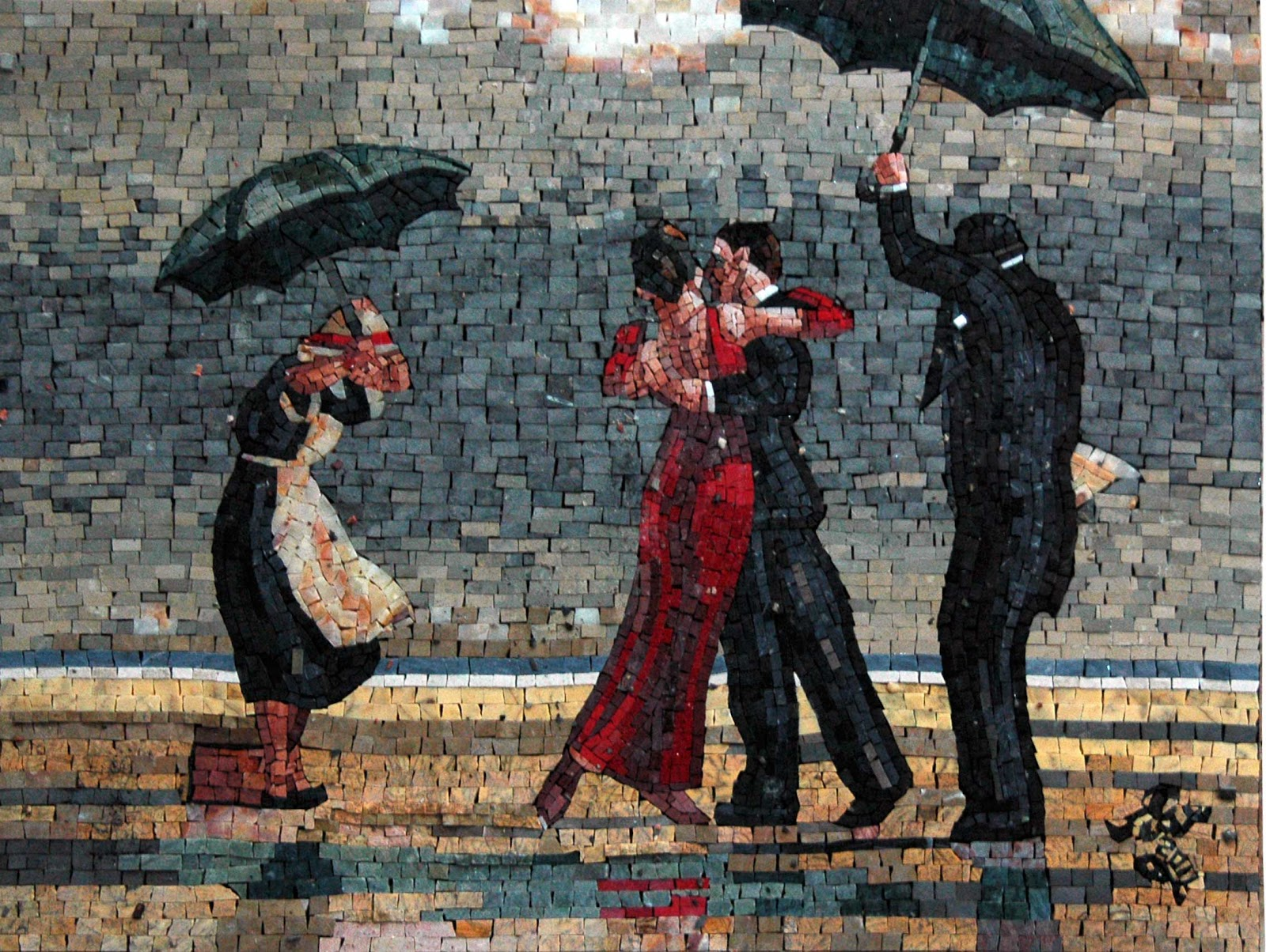 The Singing Butler by Jack Vettriano - Mosaic Reproduction