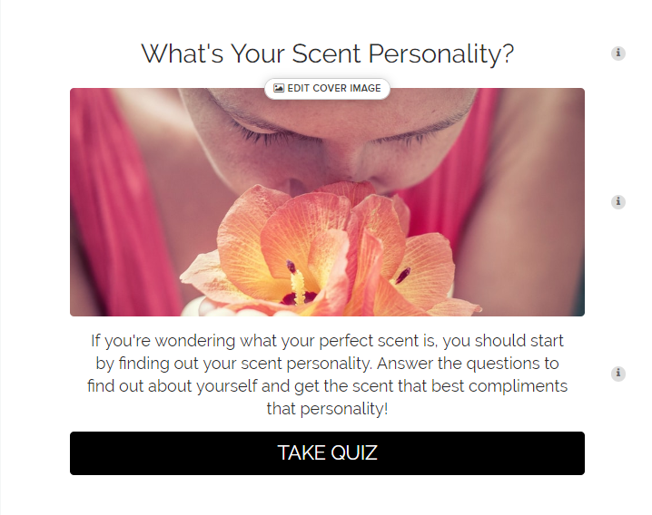 What's your scent personality quiz cover