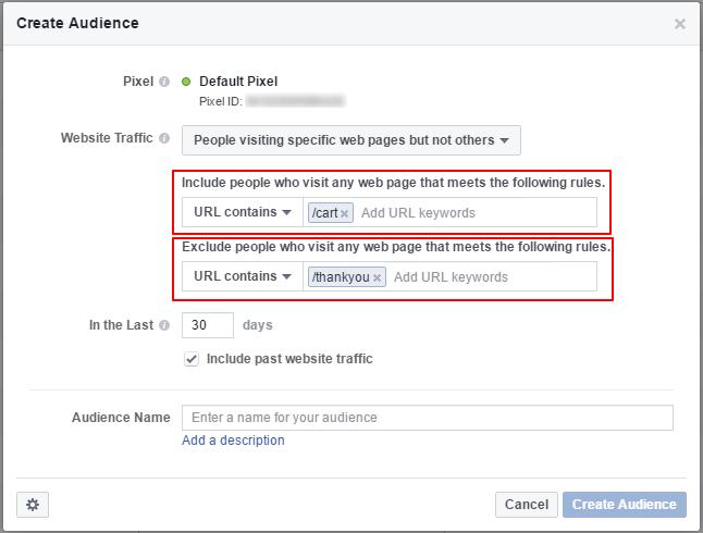 Facebook retargeting pixel setup