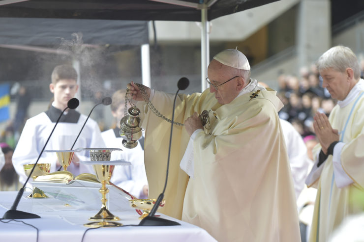 Pope Mass Sweden Incense Close-up