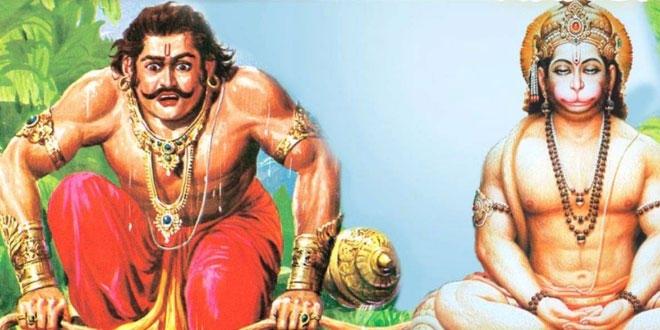 How is Hanuman related to Pandavas?