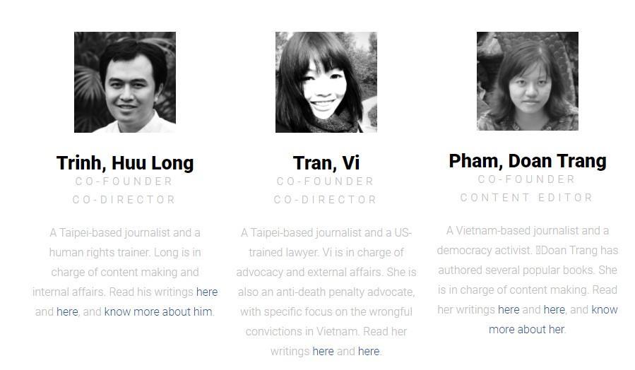 Ba trong bốn thành viên sáng lập của Luật Khoa tạp chí. Ảnh: liv.ngo.