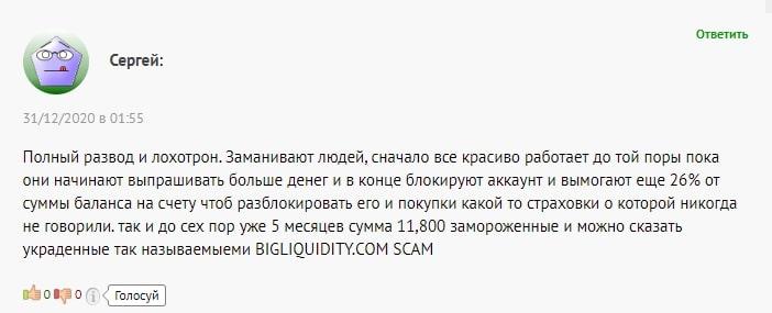 Обзор условий BigLiquidity: проверка достоверности фактов, отзывы