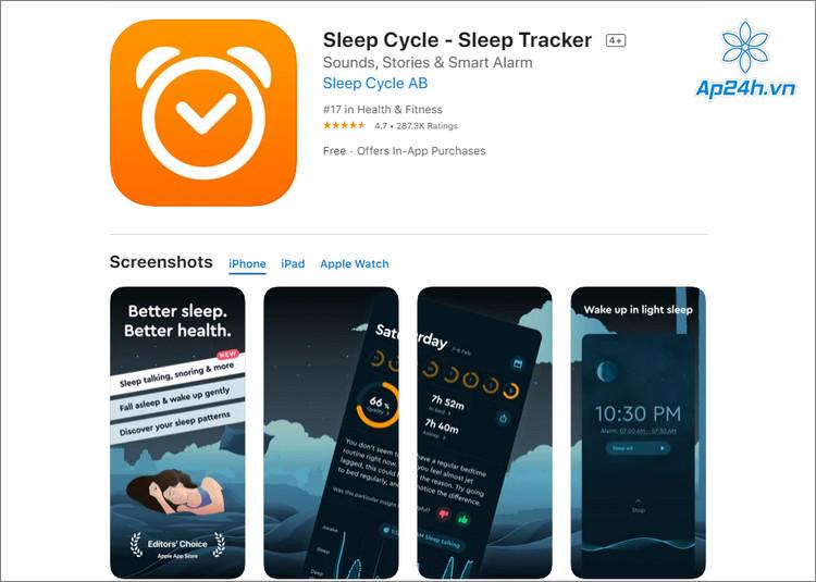 Ứng dụng theo dõi giấc ngủ trên iPhone, iPad