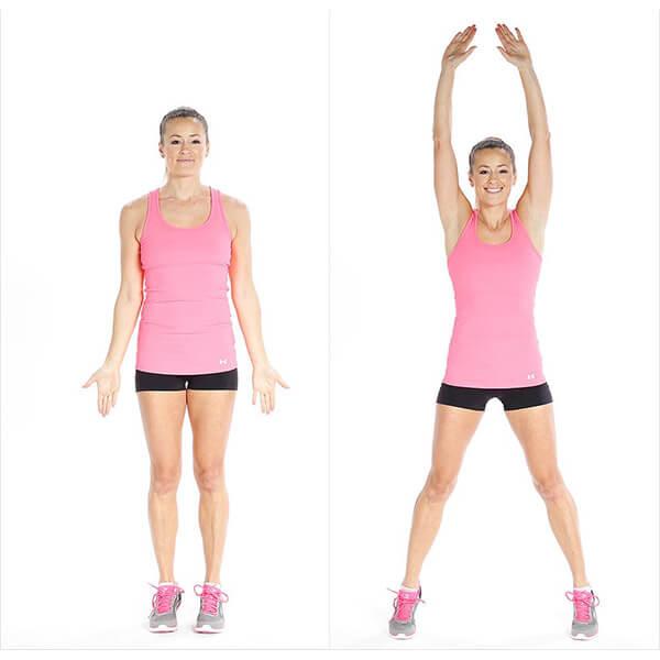 Bài tập GYM nữ tại nhà giúp giảm cân toàn thân – Jumping Jack