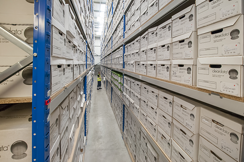 warehouse of papers