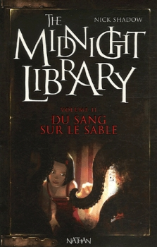 Couverture de The midnight library Du sang sur le sable