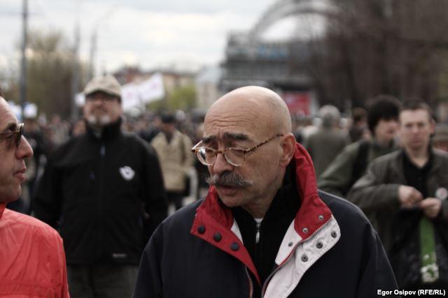Андрей Бильжо на митинге оппозиции. Болотная площадь, 6 мая 2013