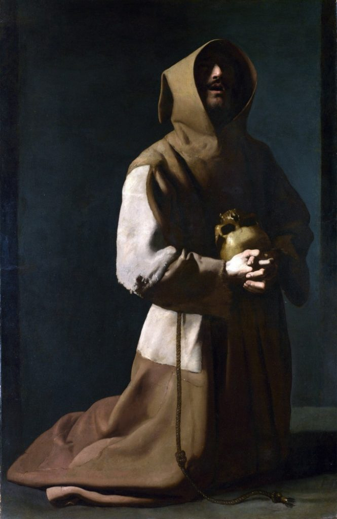 St. Francis in Meditation by Zurbaran