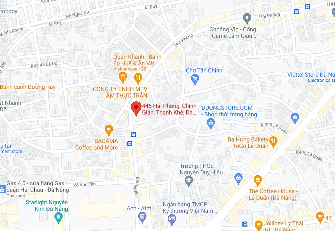 Địa điểm đón/trả khách tại Đà Nẵng