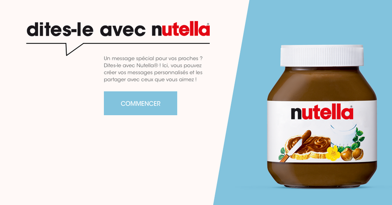 Say it with Nutella