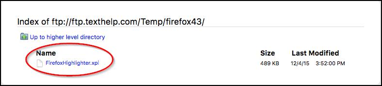 Firefox Mac FTP Link