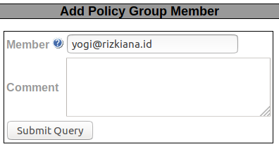 Add Policy Group Member