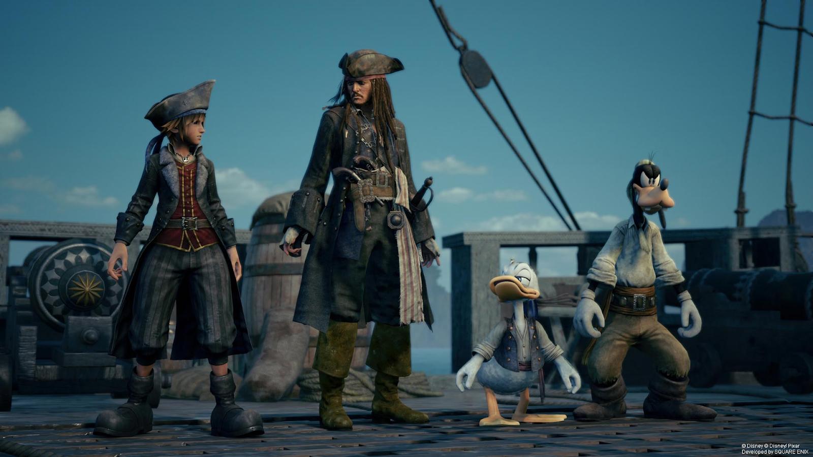 Sora, Captain Jack, Aku & Hessu