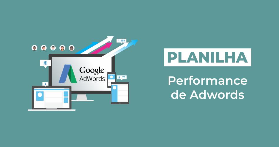 Planilha performance de adwords