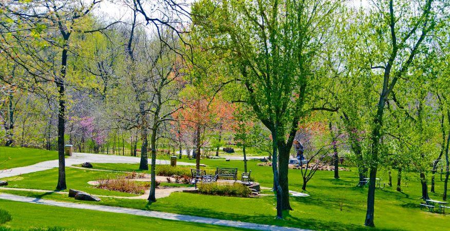 Stuart Park in Tulsa, Oklahoma