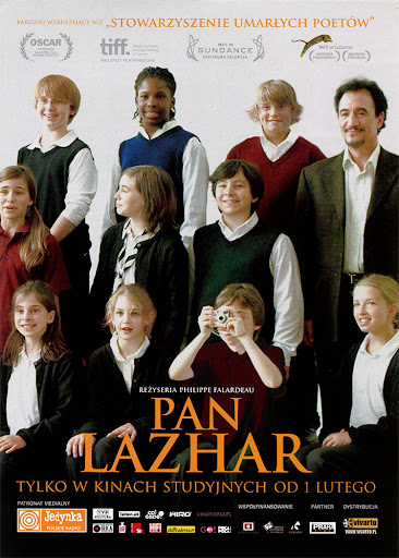 Przód ulotki filmu 'Pan Lazhar'