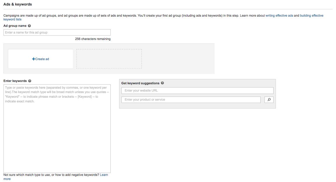Screenshot showing Bings suggested keywords