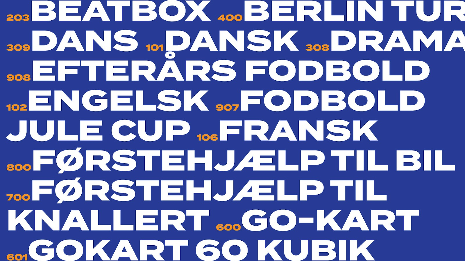 Glostrup ungdomsskole typografi