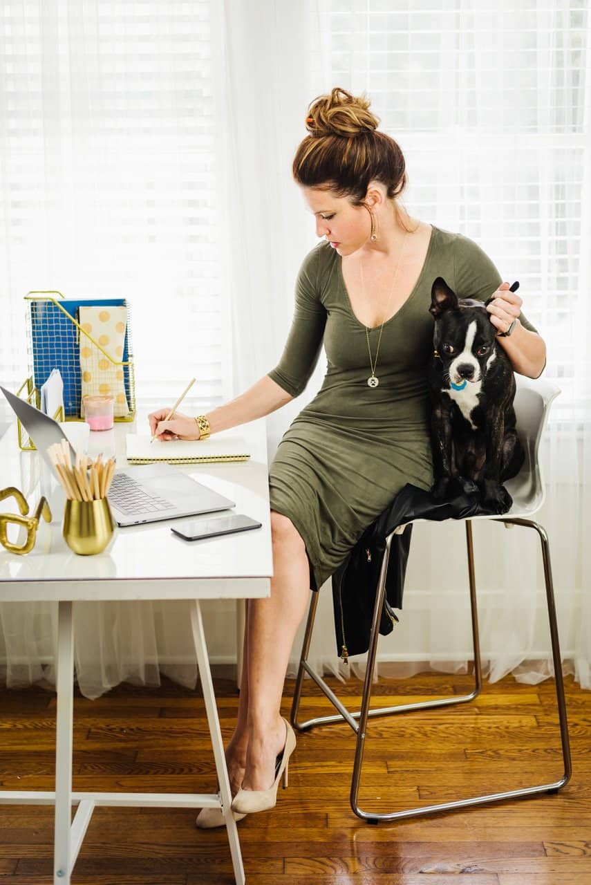 Lap of Love Dr. Dani McVety with a Boston Terrier