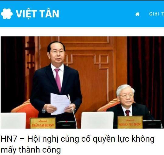 Việt Tân xuyên tạc Hội nghị Trung ương 7 khóa XII