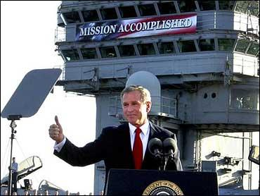 """Mission Accomplished"""" Banner Could Go on Display at Bush Library - CBS News"""