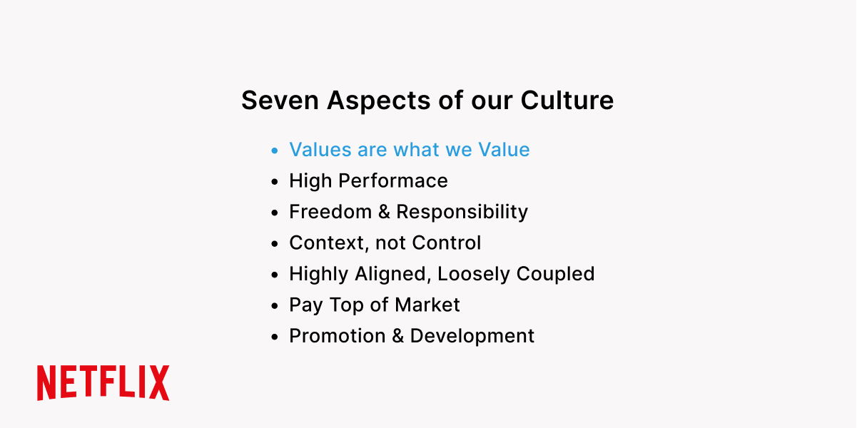 Netflix company core values