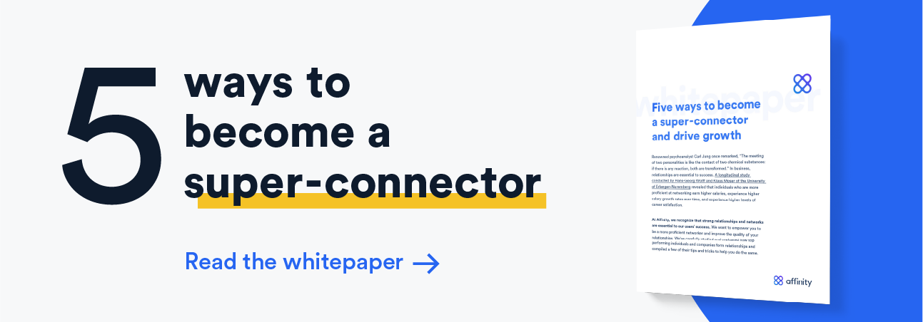 Five ways to become a super connector download offer