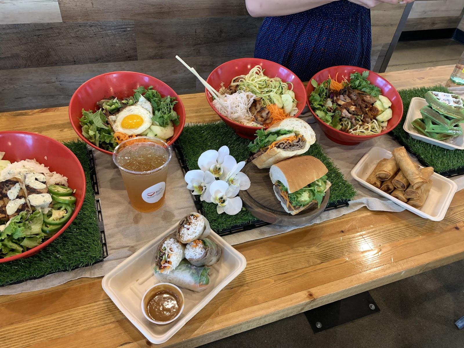 Travel Series: Pflugerville Texas Foodie. Pflugerville Pfoodie #PflugervillePfoodies #foodie #traveltexas #texasblogger #vietnamesefood #bahnmi #freshfood #tru #smalltown #smalltowntexas #smalltownstexas #thehappymustardseed Moi Vietnamese Grill Pflugerville Texas