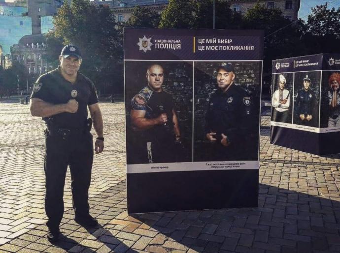 Дмитро Крештофов, заступник командира роти патрульної поліції в Києві