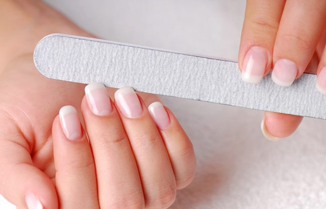Remove Acrylic Nails Using Laminated Business Card