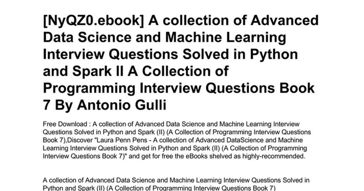Advanced Python Book