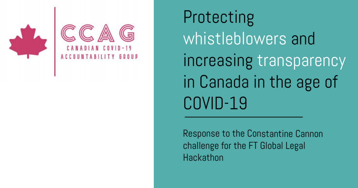CCAG Canadian Whistleblowing and Transparency Proposal.pdf