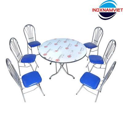 Kết quả hình ảnh cho bộ bàn ăn inox namviet