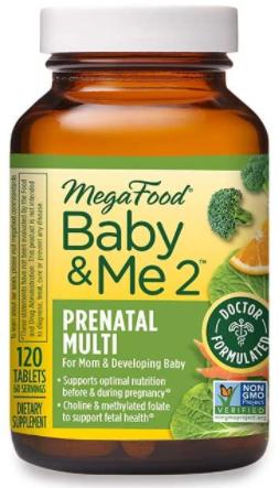 2. MegaFood Prenatal & Postnatal Vitamins