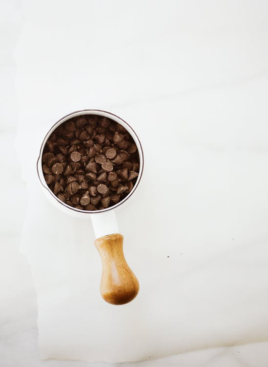 Wholesale chocolate chips in a mug