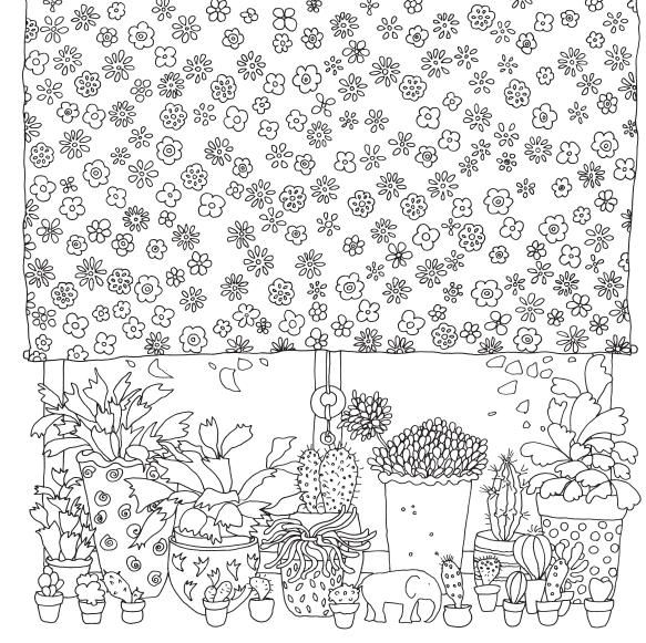 Цветы из раскраски «Неведомый мир»