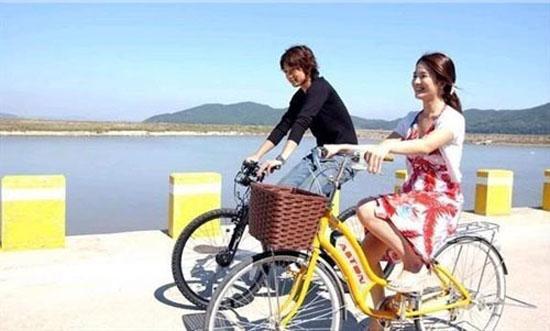 Đi xe đạp ở Hàn Quốc rất thú vị.