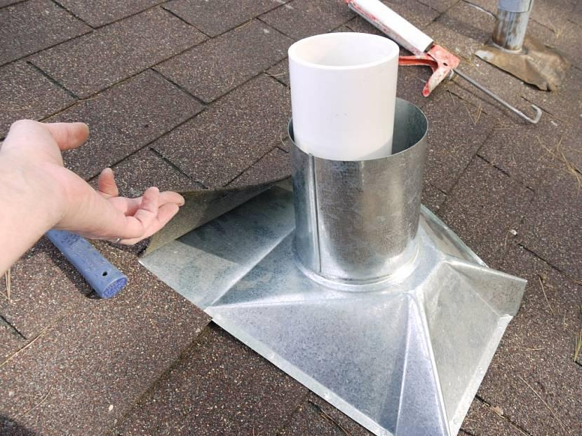Установка дымохода в бане через потолок и крышу: материалы и ...