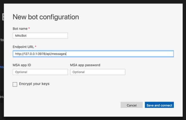 Develop Bot Application using Visual Studio Mac