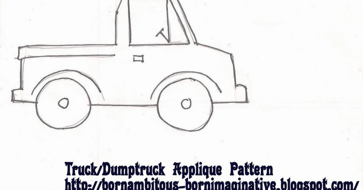 Little Blue Truck Applique Magnet Patterns Google Docs