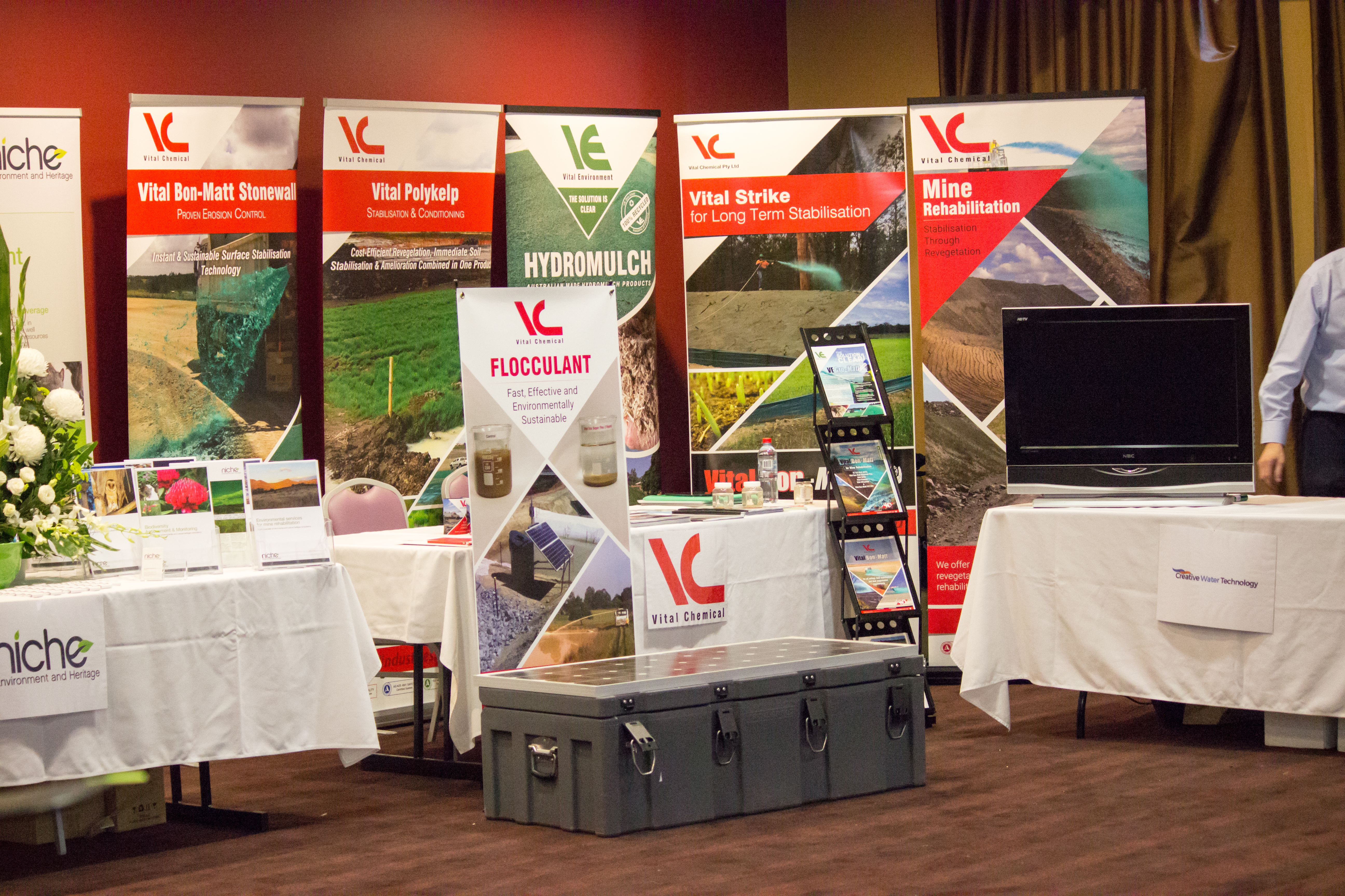 Exhibitor Vital Industries also sponsored the Conference Dinner in 2017