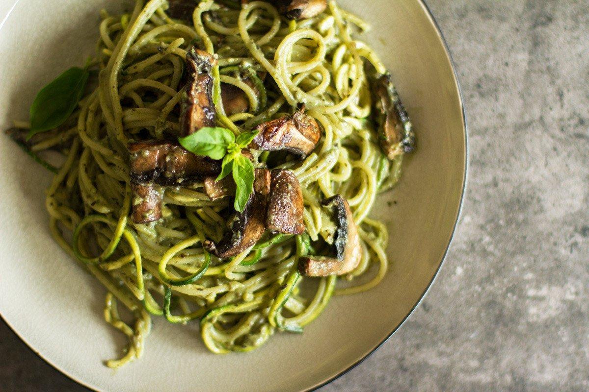 creamy herb and mushroom pasta recipe