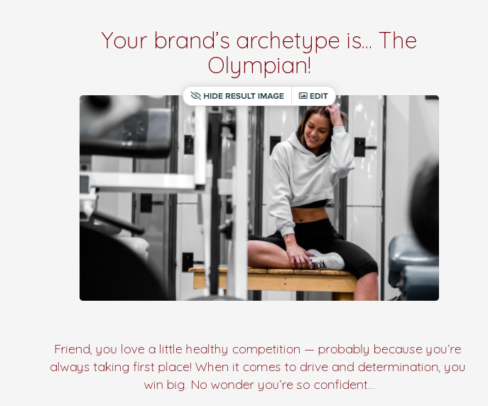 you're brand archetype is the Olympian with description